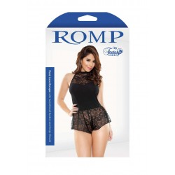 Body sexy ROMPER WITH SNAP CLOSURE BLACK