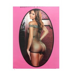 BODY-STOCKING MAGLIA INTIMA SEXY NERA ONE SIZE